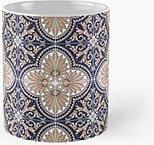 Tile Pattern Classic Mug Best Gift Funny Coffee