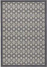 Tile Rug in Grey/Cream Hanse Home
