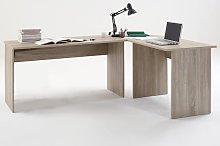 Till Modern Corner Computer Desk In Canadian Oak