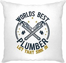 Tim And Ted World's Best Plumber Cushion Cover
