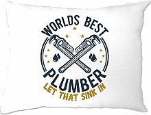Tim And Ted World's Best Plumber Pillow Case