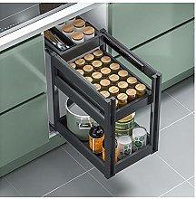 TIM-LI 2-Tier Pull Out Cabinets Organizer Shelf,