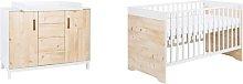 Timber 2 Piece Nursery Furniture Set Schardt