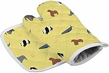 Timdle 1 Heat Resistant Oven Mitts + 1 Cotton Pot