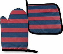 Timdle Ark Blue And Dark Red Stripes Motif Design