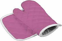 Timdle Dark Blue Solid Style Oven Mitts Heat