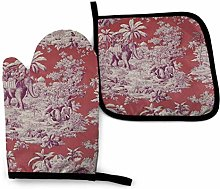 Timdle Oven Mitts And Pot Holders Bbq Gloves,