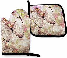 Timdle Oven Mitts and Pot Holders Sets Butterfly