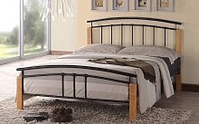 Time Living Tetras Metal Bed Frame, Single, Black