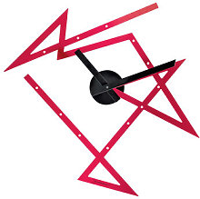 Time Maze Wall clock - 50 x 47.5 cm by Alessi