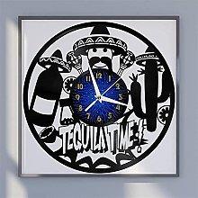 Time theme vinyl record wall clock wall clock