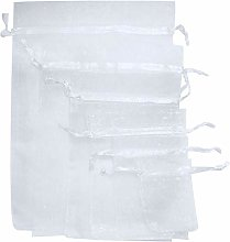 Time to Sparkle 100 Pack Organza Gift Bags Wedding
