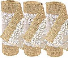 Time to Sparkle TtS 3pcs Jute Hessian lace Roll