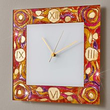Time Wall Clock Kolarz Colour: Beige/Red