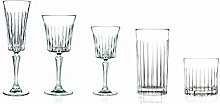 Timeless Complete Crystal Drinkware Set with 8X