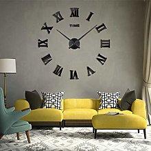 Timelike 3D DIY Frameless Large Wall Clock Modern