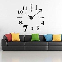 Timelike 3D DIY Wall Clock, 1M Modern Frameless