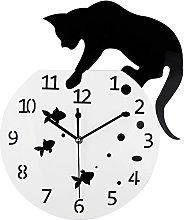 Timelike Fishbowl Cat Clock/Creative Wall