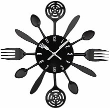 Timelike Kitchen Cutlery Wall Clock with Forks and