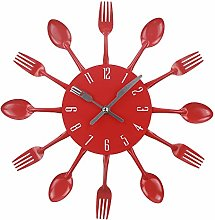 Timelike Kitchen Wall Clock, 3D Removable Modern