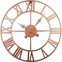 Timelike Large Roman Wall Clock, Rustic Vintage