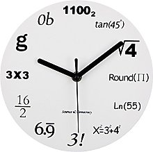 Timelike Math Clock, Unique Wall Clock Modern