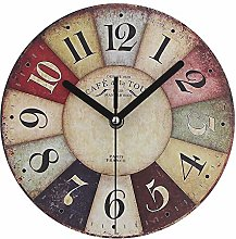 Timelike MDF Wooden Wall Clock Vintage Rustic