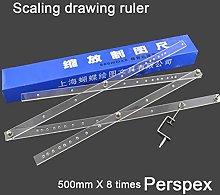 Times Drawing Magnifying Ruler Scaling DIY Drawing