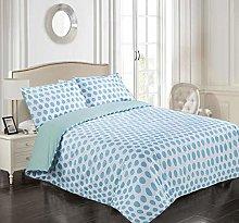 Tims Textiles Duvet Cover 3 Pieces Reversible Blue