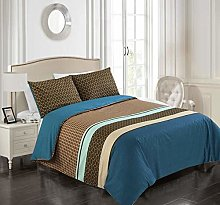 Tims Textiles Printed Quilt Cover Set Blue and