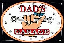 Tin Sign 20 x 30 cm Curved Dad's Garage