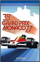 Tin Sign 20 x 30 cm Curved Grand Prix Monaco Monte