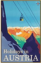 Tin Sign 20 x 30 cm Curved Holiday Poster Holidays