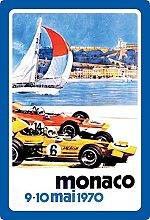 Tin Sign 20 x 30 cm Curved Monaco Grand Prix 1970