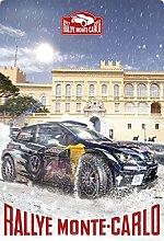 Tin Sign 20 x 30 cm Curved Rallye Monte Carlo