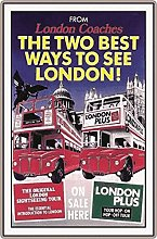 Tin Sign 20 x 30 cm Curved Travel Poster London