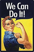 Tin Sign 20 x 30 cm Curved We Can Do It Sayings