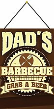 Tin Sign 20 x 30 cm Curved with Cord Dad ´s