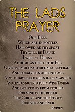 Tin Sign 20 x 30 cm Domed The Lads Prayer Humour
