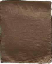 Tine K Home - Linen Throw - walnut - Sand/Walnut