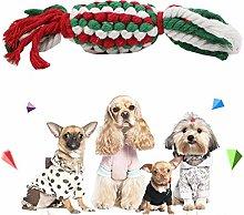 TINGB 10 Pcs Christmas Candy Cotton Rope Dog Molar