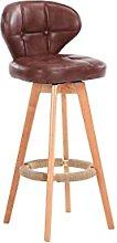 TINGHAO Pub Barstool Solid Wood Bar Stool High