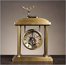 Tingting1992 Alarm Clock European Style Fireplace