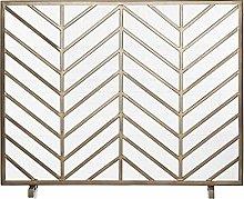 Tingting1992 fireplace screens Brushed Gold Finish