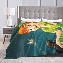 Tinker Bell And Peter Pan Soft Blanket, Microfiber