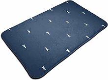 Tiny Geometric Triangle Arrow Bath Mat Door Mats
