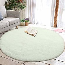 Tinyboy-hbq Round Area Rugs Fluffy Bedroom Rug