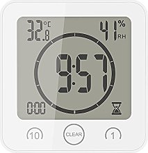 TiooDre Bathroom Clock Shower Timer Thermometer