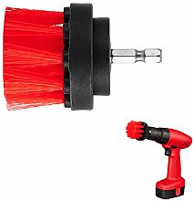 TiooDre Drill Brush -2 inch Red Power Drill