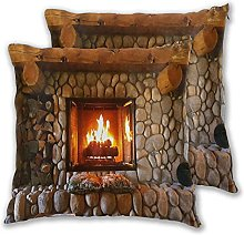 TISAGUER Pack of 2 Decorative Cushion Covers 18x18